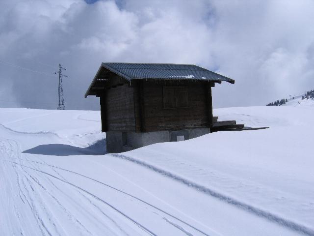 Et une photo de la cabane d'arrivée d'aujourd'hui